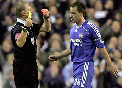 John Terry is sent off