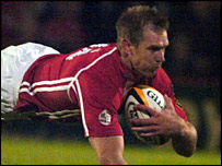 Dafydd James scored the Scarlets' opening try against Munster