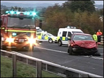 A75 road crash