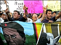 Protesters in Oaxaca
