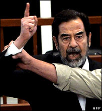 Saddam Hussein in court