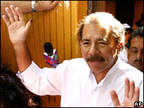 Nicaraguan presidential candidate Daniel Ortega