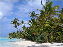 A beach on the Cook Islands