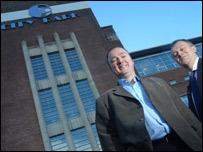 Donald Bell, director of Halcrow Glasgow and Neil Johnstone, managing director UK North