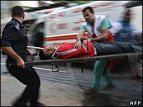 Palestinian paramedics in Gaza
