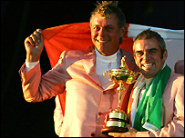 Ryder Cup team-mates Clarke and McGinley will play for Europe in the Royal Trophy in Bangkok in January