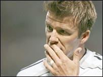 Real Madrid midfielder David Beckham