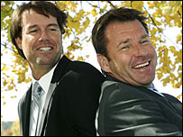 Paul Azinger (left) and Nick Faldo