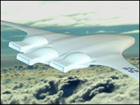 Artist's impression of the SAX-40 plane in flight (Image: SAI)