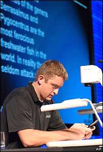 Ben Cook, de Utah, fue coronado como campe�n del mensaje de texto en una competencia de velocidad en Orlando, Florida, en octubre pasado.