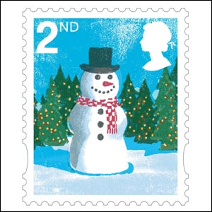 second class stamp image royal mail - Christmas Stamp