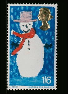 One of the very first Christmas stamps from 1966 (Image: Royal Mail)
