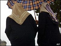 Turkish women wearing headscarves