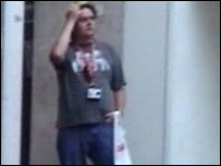 Paedophile Kevin Rogers in a Bristol shopping centre