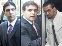 Zeeshan Shahid, Imran Shahid, Mohammed Faisal Mushtaq (l-r)