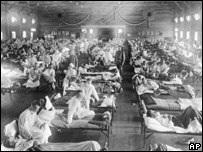 Spanish flu sufferers in Kansas