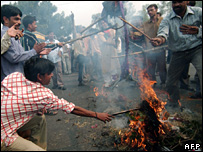 A protest by the traders last week turned violent