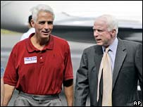 Charlie Crist with Senator John McCain