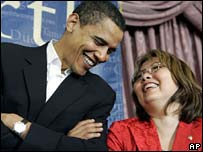 Barack Obama campaigning in Illinois with House candidate Tammy Duckworth