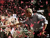 Bush campaigning in Texas