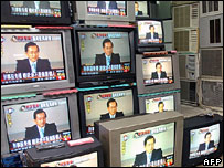 TV sets in Taiwanese store