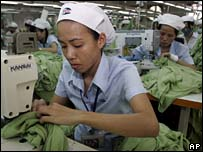 Garment worker in Vietnam