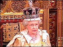 The Queen at state opening of parliament