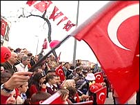 Crowd on Turkish Republic Day