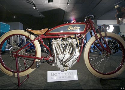 A 1920s Indian Powerplus Daytona racing motorcycle