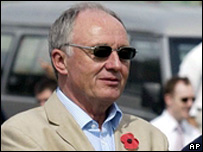 Ken Livingstone watches a cricket match in Cuba