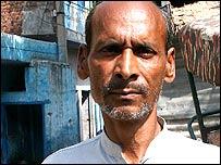 Noshe Ali, resident of a Delhi slum