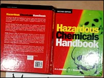 Hazardous Chemicals Handbook which Barot scanned pages from