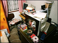 Computer room at an address used by Barot