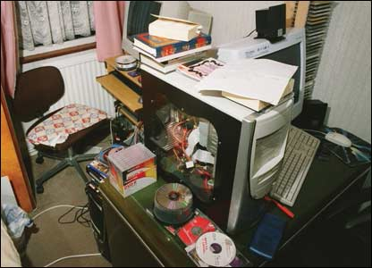 Dhiren Barot's computers, photographed in his home