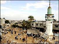 Población de Beit Hanoun en Gaza