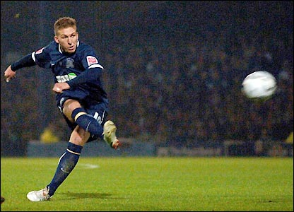 Freddy Eastwood bends home a free-kick in the 26th minute