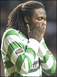 Evander Sno cannot believe his penalty miss