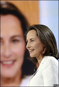 Segolene Royal at the televised debate in Paris on 7 November