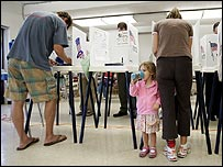 Voters in Manhattan Beach, California