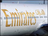 Emirates Boeing 777 plane