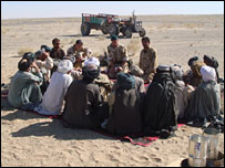 A meeting in the Afghan desert