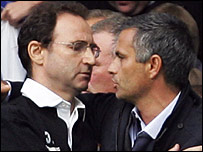 Martin O'Neill and Jose Mourinho