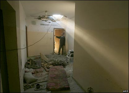 Damage to a home in Beit Hanoun, Gaza