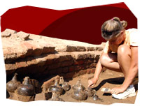 Archaeological site at Jamestown, USA