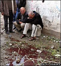 Beit Hanoun residents after Israeli shelling