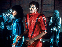 A scene from the Thriller video