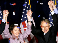 Democrats celebrate their gains in the mid-term elections