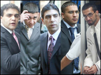 Imran Shahid, Daanish Zahid, Zeeshan Shahid, Zahid Mohammed and Mohammed Faisal Mushtaq (l to r)(Pictures from Ciaran Donnelly)