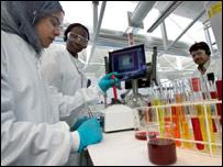 Science students, pic by London Metropolitan University
