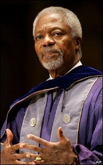 Kofi Annan. Image: AP